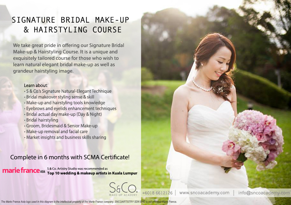 bridal makeup & hairstyling course Malaysia